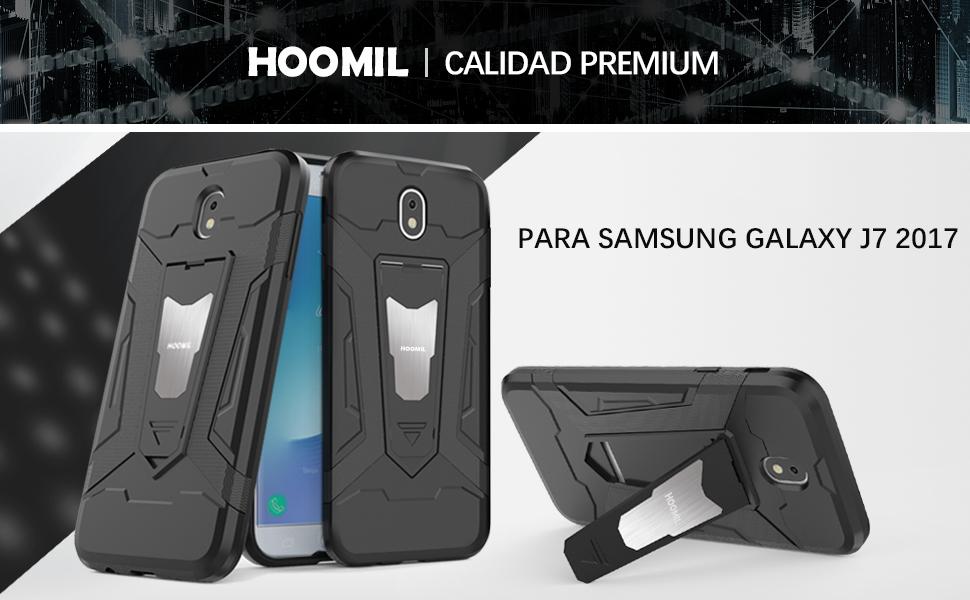 Samsung Galaxy J7 2017 Hybrid Dual Layer Shockproof Hard Cover