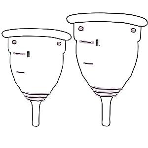 Copa Menstrual de Livella / Calidad alemana / 2 tamaños (S&L) / higiene sostenible / alternativa para tampones y toallas sanitarias / silicona médica ...