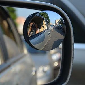 Vehículos compatibles: universal para todos los coches. Color: Argénteo Material: lente de cristal HD + ABS Forma: Redondo