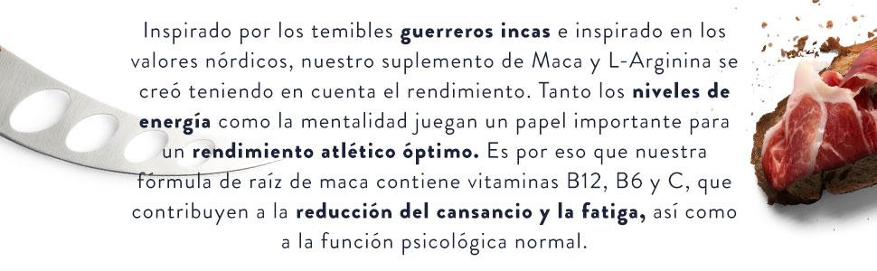 Maca L - Arginina, Contiene Cordyceps, Extracto de Acerola con Vitamina B6, B12