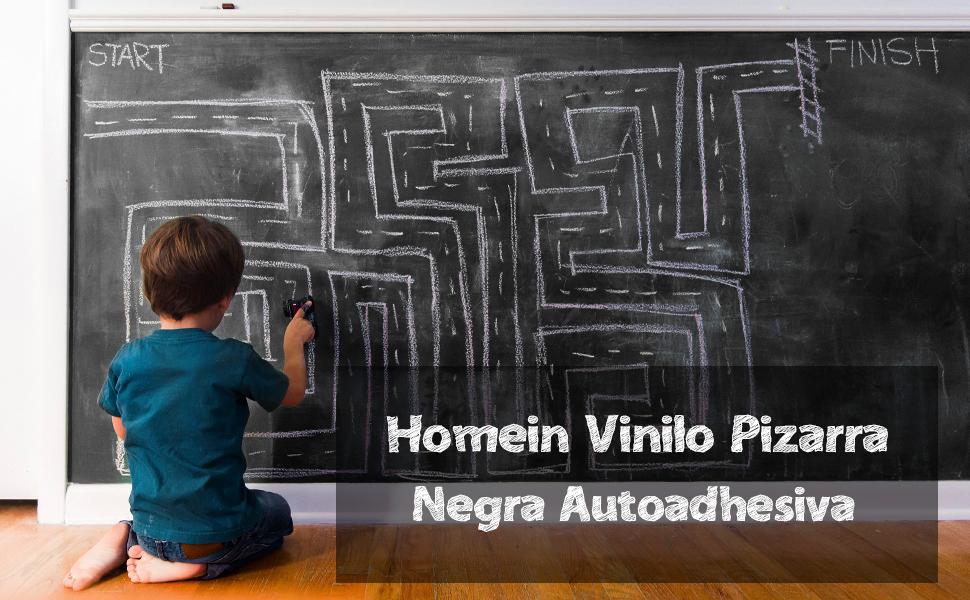 Vinilo Pizarra Adhesiva Negro de Pared Vinilo Lámina Pizarrón Autoadhesiva Vinilo Flexible a Oficina Casa Escolar Fácil Escribir y Borrar Con Cinco ...
