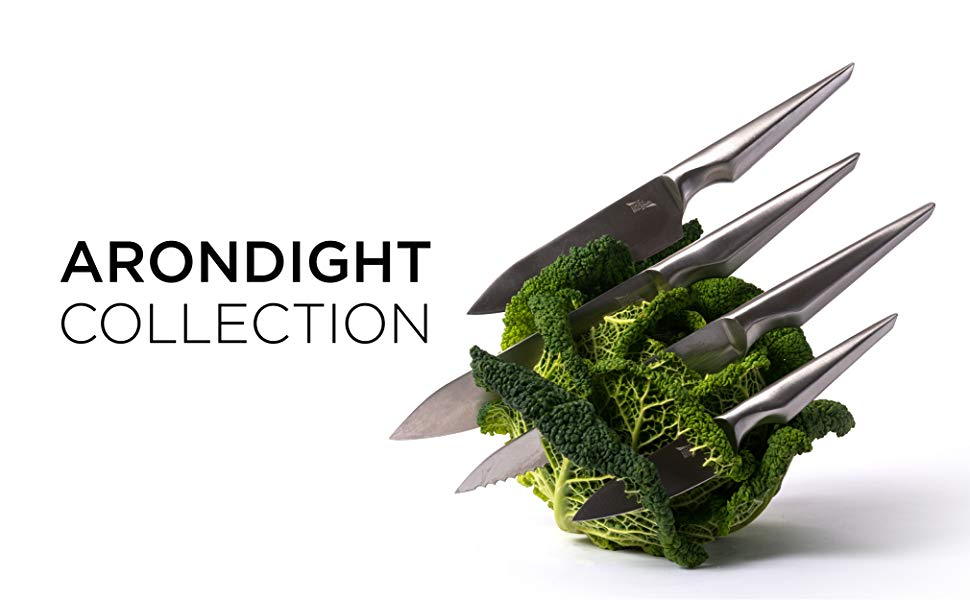 Edge of Belgravia ARONDIGHT Juego de Cuchillos de Cocina 4 piezas - Acero Inoxidable - Sensación Ligera - Mango Ergonómico
