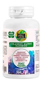 ... colageno con magnesio acido hialuronico comprimidos 450 90 180 240 aquisana colajeno ...