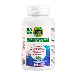Colágeno hidrolizado magnesio calcio huesos articulaciones marino vitaminas C y D reforzar defensas.