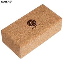 Yamkas Bloque Yoga Corcho | Yoga Block Cork Ecológica | Bloques para Ejercicio y Pilates | Ladrillo Yoga Natural Made in Portugal