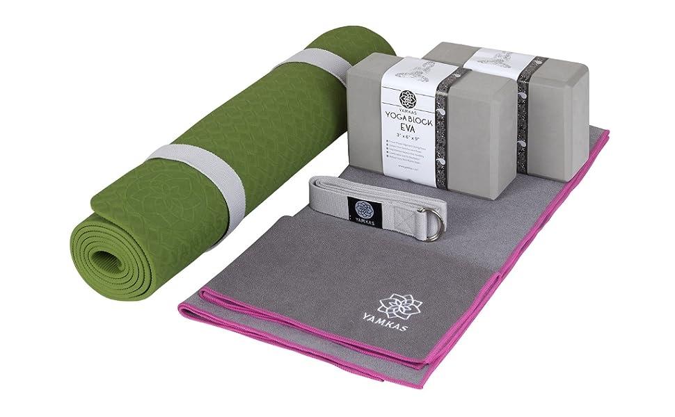 Yamkas Bolsa de Transporte para Esterilla de Yoga | Ecologica Algodón | Pilates Mat Strap | Cinturon Transportar Colchoneta