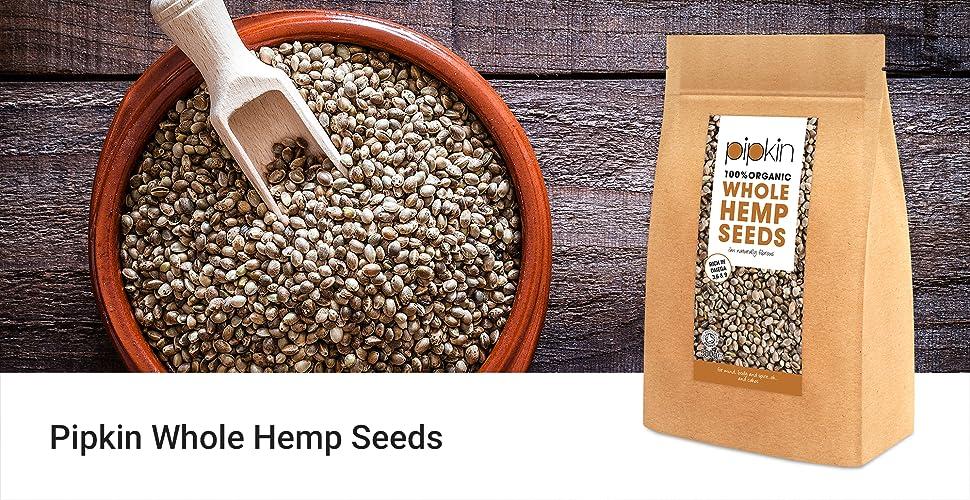 Pipkin Semillas de Cáñamo Enteras 100% Bio Orgánicas, No-GMO,500g