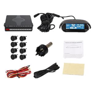 1x pantalla LCD 1x caja de control 1x etiqueta de la caja de control 8x Sensores de estacionamiento 8x Cables de extensión del sensor (los cables frontales ...
