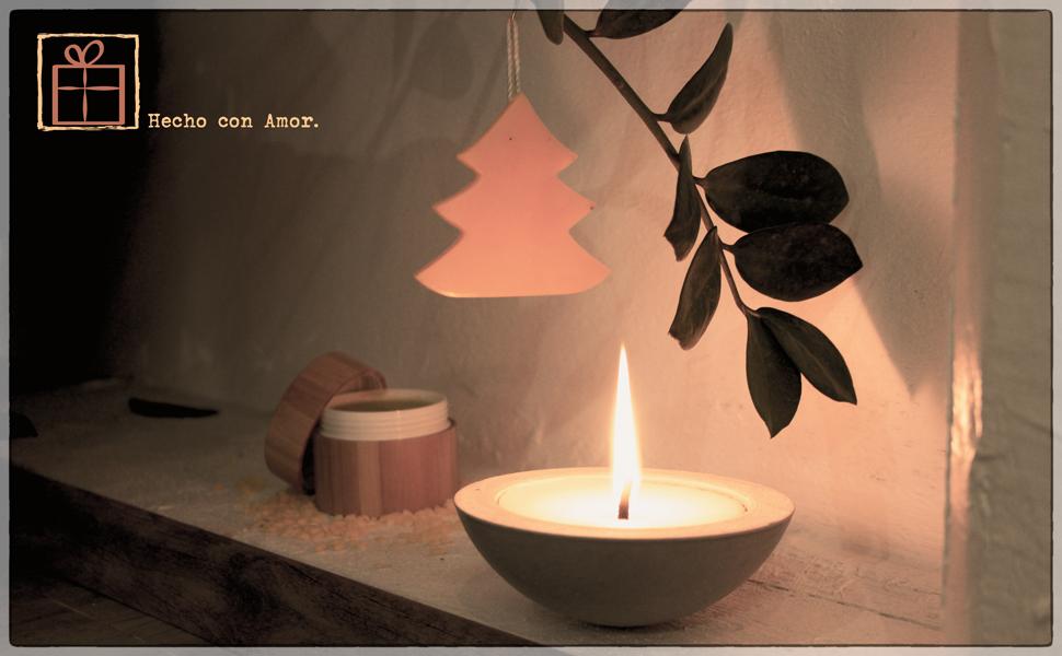 Decoración navideña, bolitas de cera de abejas, regalo de Navidad, elaboración artesanal,