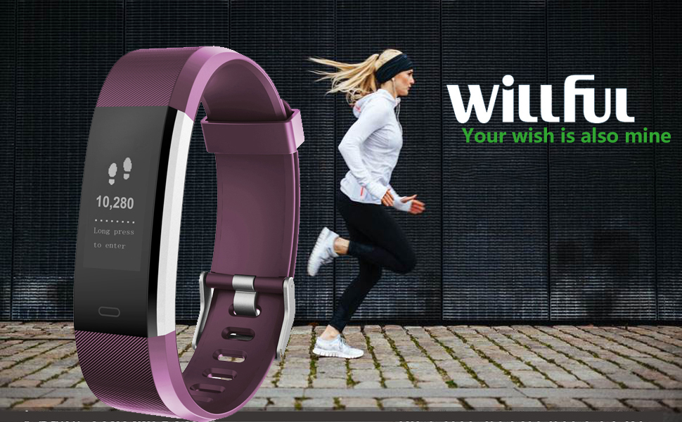 Willful Inteligente Pulsera con Pulsometros para Deporte Monitor de Sueño, Podómetro, Monitor de Ritmo Cardiáco, Monitor de Calorías, Resistente ...