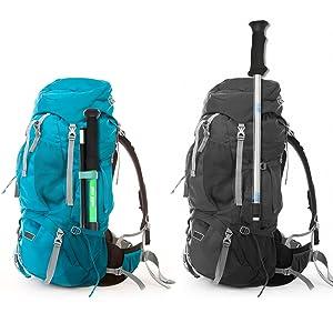 Bastón de Trekking Plegable Terra Hiker, Ultra Ligero, Plegable Y Ajustable, Perfecto Para Practicar Senderismo, Caminar, Viajar, Viajes de Mochilero