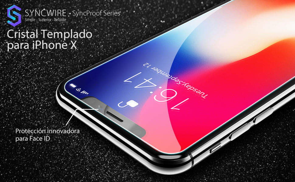 9fccea39abe protector pantalla Apple iPhone X cristal templado Apple iPhone X vidrio  templado Apple iPhone X