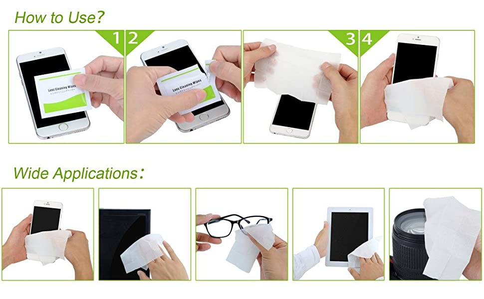 Las Toallitas de Limpieza funcionan mejor para: EOTW Limpiar gafas de sol, gafas de leer, la pantalla del movil, pantallas de ordenador, quita toda las ...