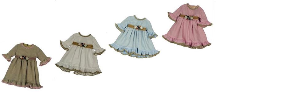 conjunto vestido pololos enaguas pantalón bebe bebé niña dama de honor boda comuniones bautizos