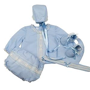 49c3df11d conjunto de canastilla de bebé bebe niño hasta 3 meses corte clásico recto  con cuello bebé
