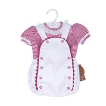 conjunto camisa y ranita con peto bebe niño bebé niña blanco y rojo vichy y piqué