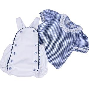 conjunto bebe unisex camisa ranita peto tirantes blanco azul cuadros encajes cómodo elegante clásico