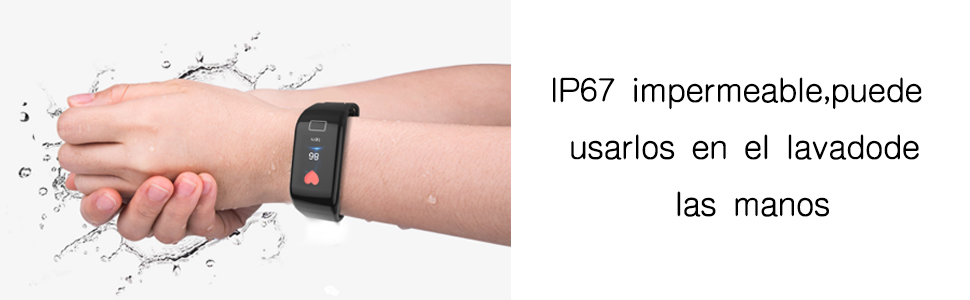 soloking IP67 impermeable pulsera inteligente