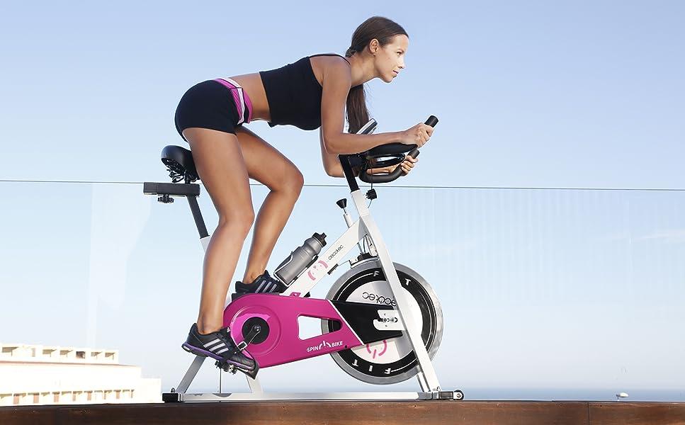 Cecotec Bicicleta de Spinning Rose Pantalla LCD, Resistencia ...