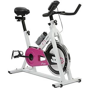 Cecotec Bicicleta de Spinning Rose Pantalla LCD, Resistencia Variable. Amortiguador. Completamente Regulable. Ruedas Transporte. Portabidones con bidón.: Amazon.es: Deportes y aire libre