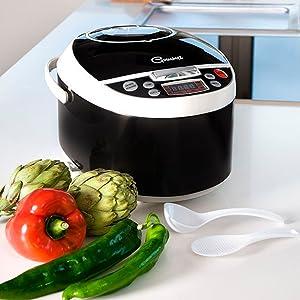 Robot de cocina con 850W, capacidad de 5 l y14 funciones. Programable 24h, guiado por voz y con recetario y múltiples accesorios. Gourmet 5000 de Ollas GM.: Amazon.es ...