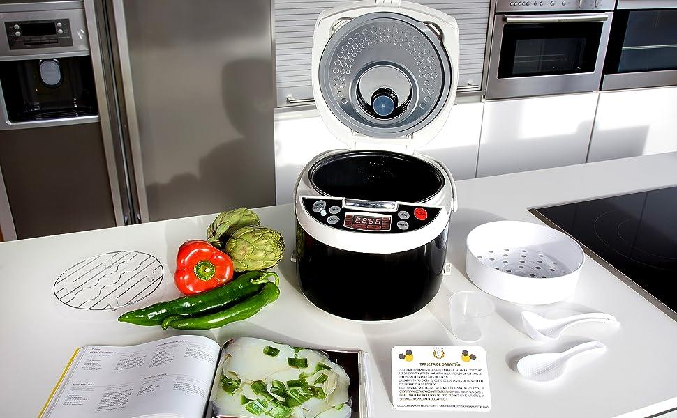 Robot de cocina con 850W, capacidad de 5 l y14 funciones ...