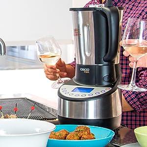 Cecotec Robot de Cocina Cecomix con capacidad de 3,3L, 21 funciones, 10 velocidades, temperatura hasta 120ºC y temporizador hasta 60 minutos. Incluye vaporera, múltiples accesorios y recetario.: Amazon.es: Hogar