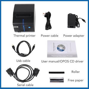 Versión 2.0] MUNBYN Impresora de Etiquetas Térmica de Cocina Escritorio Recibos de 80mm, Tikitera USB Ethernet Serial ESC/POS para Windows & Mac, Negra [Soporte Actualizar Online]: Amazon.es: Electrónica