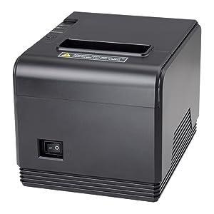 Generación 2.0] Impresora Térmica de Tickets, 300 mm/s, POS Tikitera 80 mm, Corte Automático, Impresora de Recibos de Comando ESC/POS, Compatible con Windows/Linux, Negro: Amazon.es: Electrónica