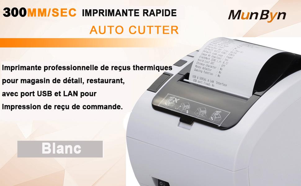 MUNBYN Impresora de Ticket Térmica WIFI Inalámbrica, Tiketera de 80mm de Recibos, Impresora Etiquetas Velocidad 300mm/s ESC/POS USB Compatible con ...