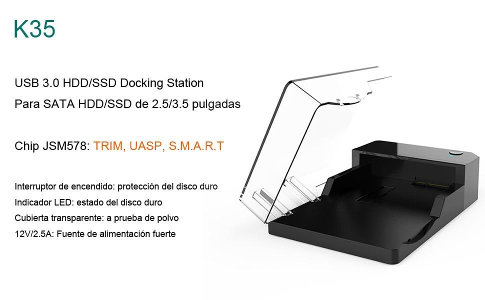 glotrends USB 3.0 A SATA Disco Duro Externo Disco Duro estación de ...