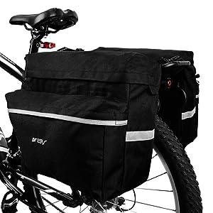 34582572330 BV Alforjas de Bicicleta Ganchos Ajustables, Asa de Transporte ...