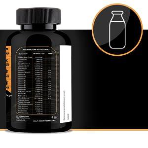 Multivitamínico y Multimineral con Enzimas de Ácido Láctico, Coenzima Q10 y Leutin - 360° LIFE DEFENDER 120 Tabletas Suplemento Inmune, 15 Vitaminas Distintas, 8 Minerales: Amazon.es: Salud y cuidado personal