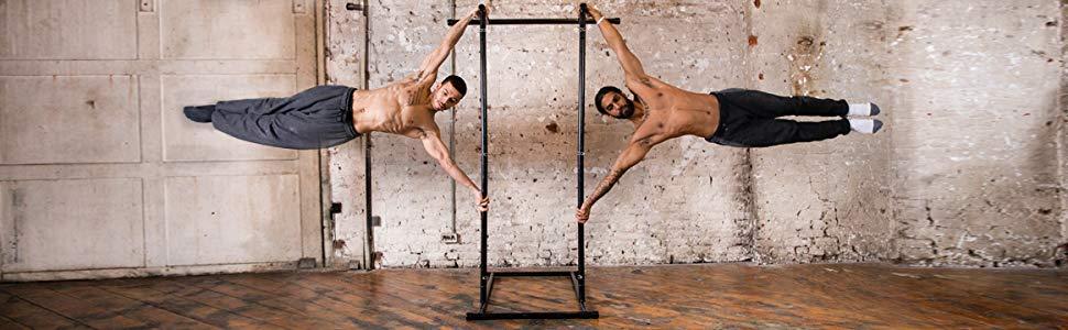 Gravity Fitness Barra de dominadas Portable Peso Corporal y Pull Up Rack
