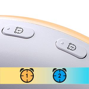 Wake Up Light Despertador Luz - 2019 LED Despertador Amanecer Simulación de Amanecer y Anochecer, 2 Alarmas, 7 Luces de Colores, 20 Niveles de Brillo, ...