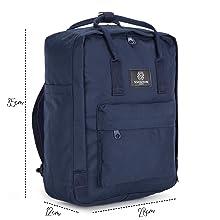 mochila azul marino