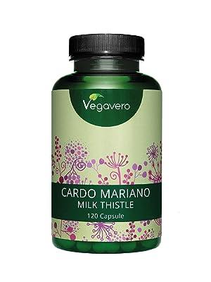 Cardo Mariano Vegavero® | DOSIS MÁS ALTA: 840 mg | 80% de Silimarina | TESTADO EN LABORATORIO | Limpieza de Hígado y Vesícula + Digestión | 120 ...