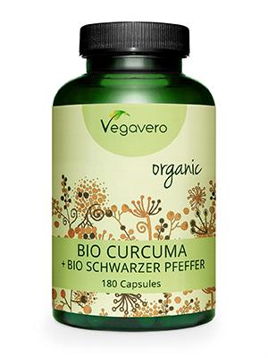 Cúrcuma Orgánica + Pimienta Negra Vegavero® | La Dosis Más Alta: 4200mg | Vegana & Sin Aditivos | Digestión + Articulaciones + Antiinflamatorio | 180 ...