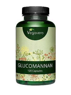 Glucomanano Vegavero ® 3000 mg | EL ÚNICO TESTADO EN LABORATORIO - SIN ADITIVOS | Fibra de Raíz de Konjac | 120 Cápsulas | Saciante Apetito + Hambre + ...