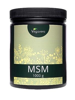 MSM 1 kg en Polvo Vegavero® | EL ÚNICO CON PUREZA CERTIFICADA: 99% | 2000 mg | Testado en Laboratorio | Antiinflamatorio Natural + Desintoxicante + ...