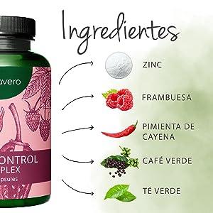 Quemagrasas Vegavero® | EL ÚNICO SIN ADITIVOS | Café Verde + Té Verde + Cafeína + Cetonas de Frambuesa + Pimienta Cayena + Zinc | 120 Cápsulas | ...