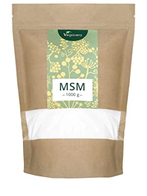 MSM Vegano 1 kg en Polvo Vegavero® | 99% Pureza Certificada | 2000 mg | Testado en Laboratorio | Antiinflamatorio Articulaciones + Lesiones Musculares ...