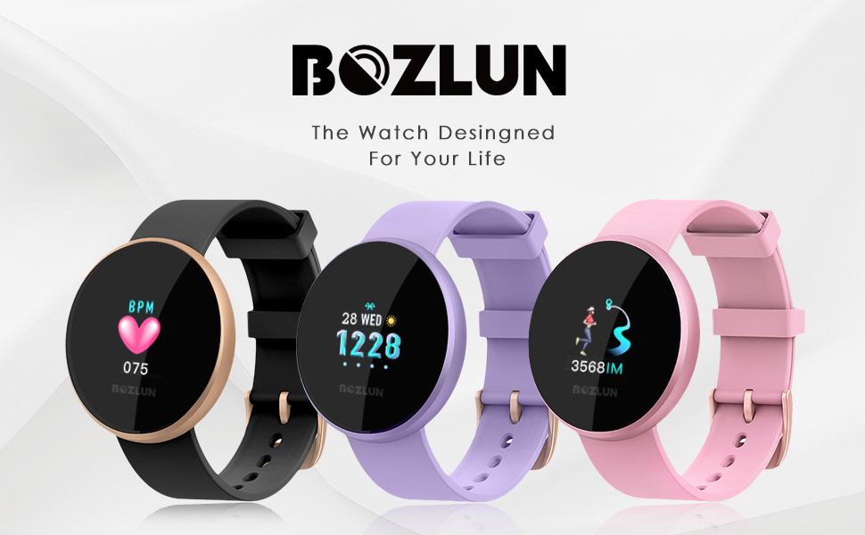 Reloj Inteligente Mujer,Reloj de Monitor de Ritmo cardíaco con Pantalla a Color, Pantalla de Reloj con Efecto de Despertador automático IP68 Reloj ...