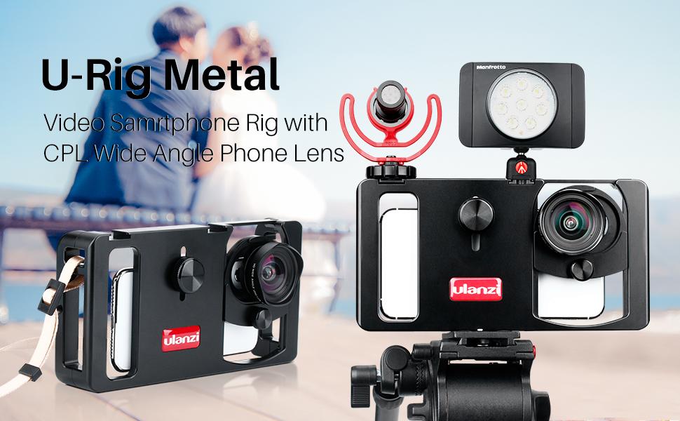 ULANZI U-Rig Metal- Estabilizador de vídeo para Smartphone, con Montura de Objetivo, Adaptador Universal de Lente y Sistema de Aparejos Compatible con iPhone Samsung Google: Amazon.es: Electrónica