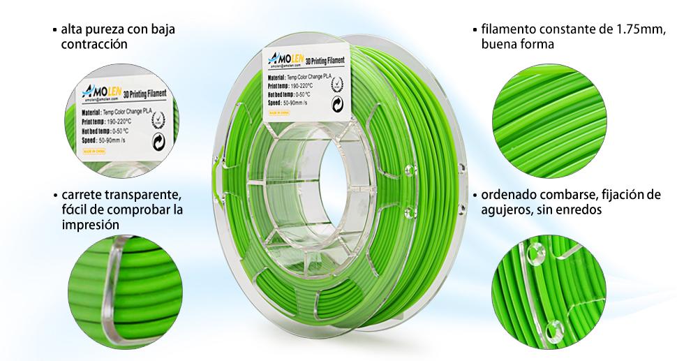 Consejos: 1.Es mejor utilizar 0.4mm o la boquilla más grande con un filamento de Amolen 2. El filamento debe almacenarse en una bolsa o caja sellada después ...