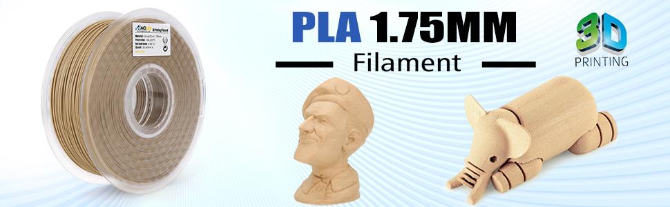 AMOLEN PLA Filamento Impresora 3D 1.75mm Madera 1KG,+/- 0.03mm ...