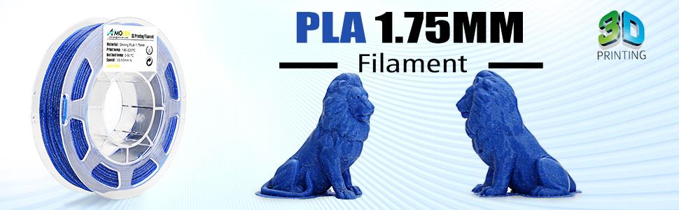 AMOLEN Impresora 3D Filamento PLA 1.75mm, Speckle Shining Azul ...