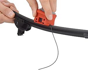 ATG Recortador Universal escobillas limpiaparabrisas Coche - Reparación Goma limpiaparabrisas Universal, rápido y fácil