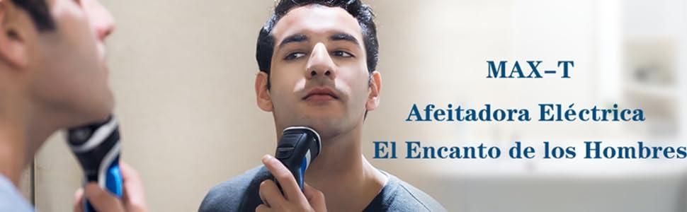 MAX-T RMS6101 Afeitadora Eléctrica para Hombres IPX7 100% Impermeable Máquina Afeitar Barba Húmedo & Seco con Pop-up Trimmer: Amazon.es: Salud y cuidado personal