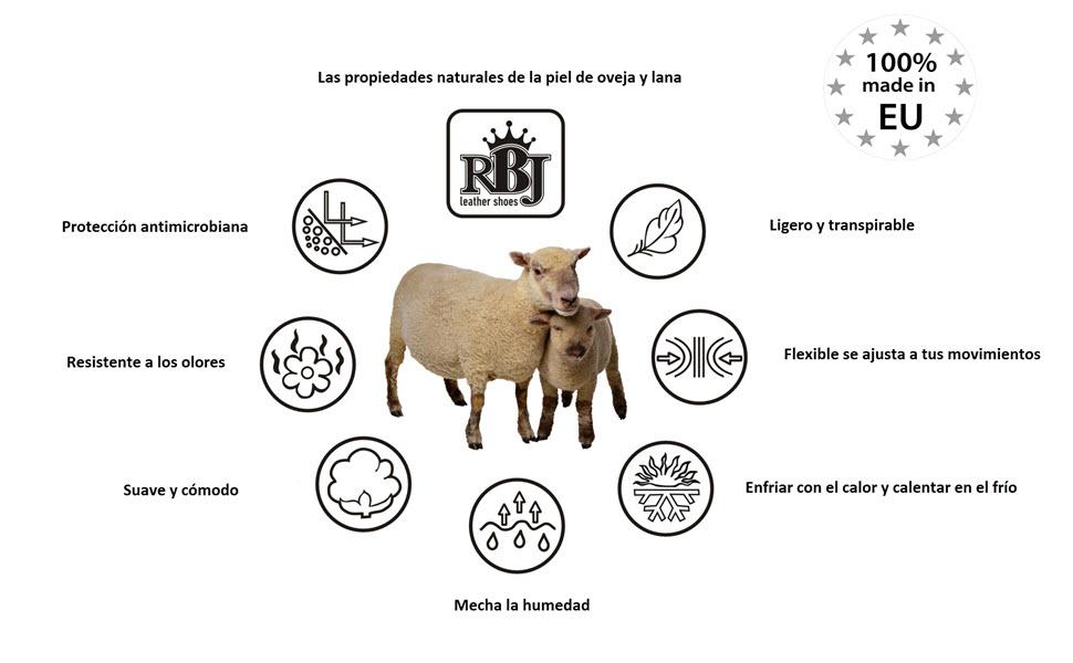 las propiedades de la lana de oveja